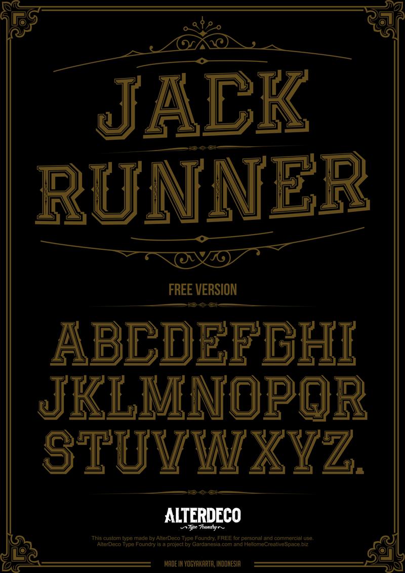 Jack Runner Font | dafont com