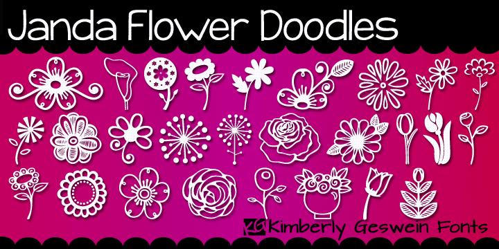 Janda Flower Doodles Font Dafont Com