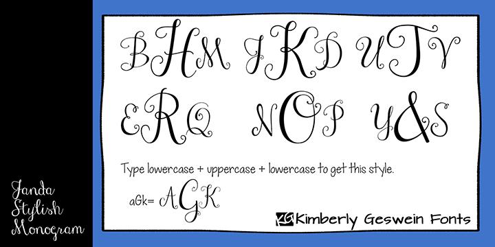 janda stylish monogram font