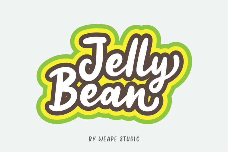 photo regarding Jelly Belly Logo Printable named Jelly Bean Script Font