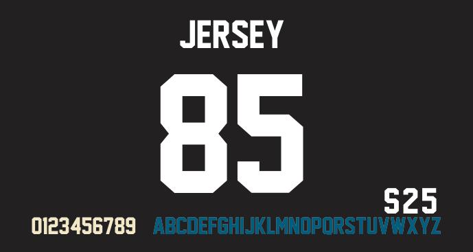 Jersey M54 Font | dafont com