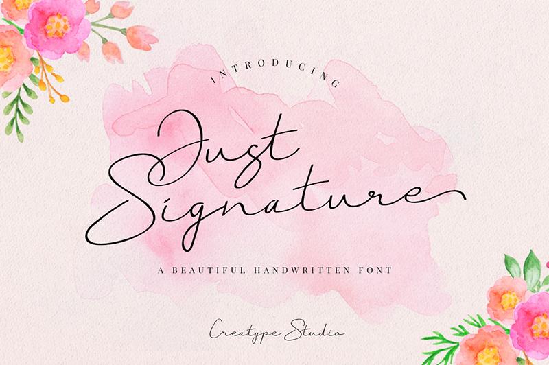 Just Signature Font | dafont com