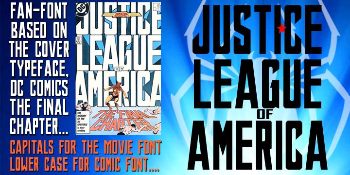Justice League Font | dafont com