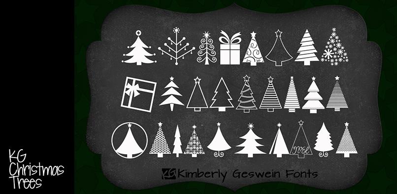 KG Christmas Trees Font | dafont.com