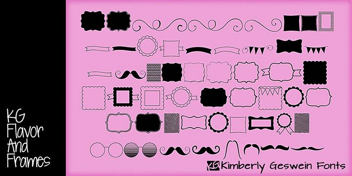 KG Flavor and Frames Font | dafont.com