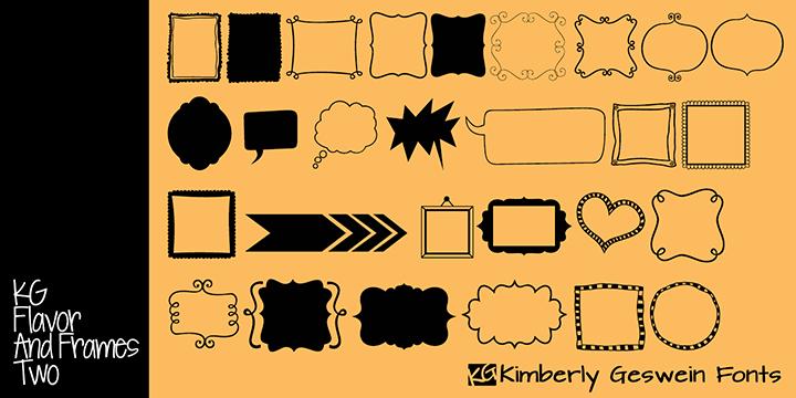 Kg Flavor And Frames Two Font Dafontcom