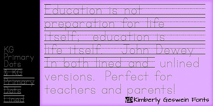 KG Primary Dots Font | dafont com