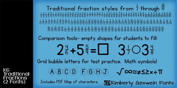 KG Traditional Fractions Font | dafont.com
