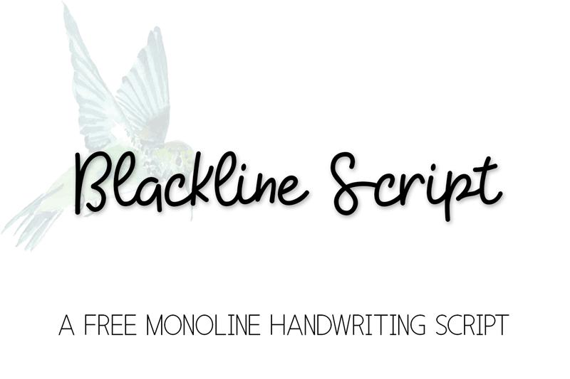 KH Blackline Script Font