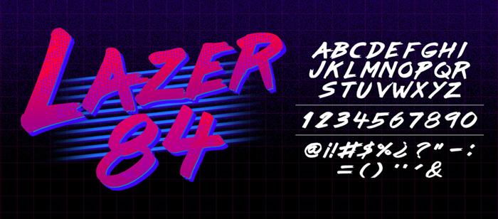 Lazer 84 Font   dafont com