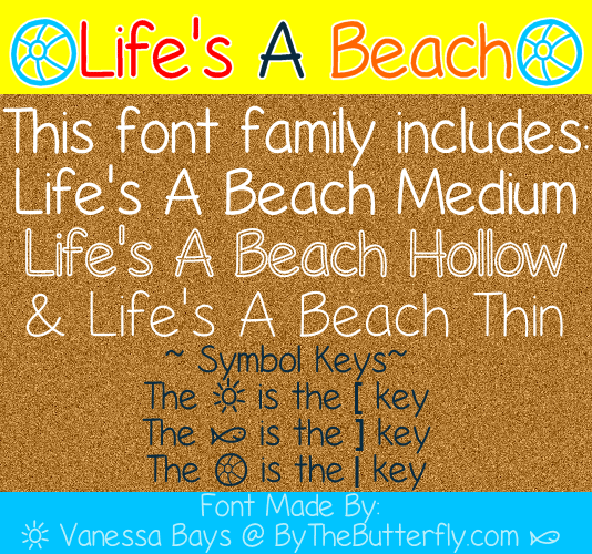 Beach thin font free download