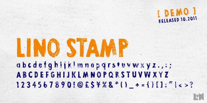 Lino Stamp Font | dafont com