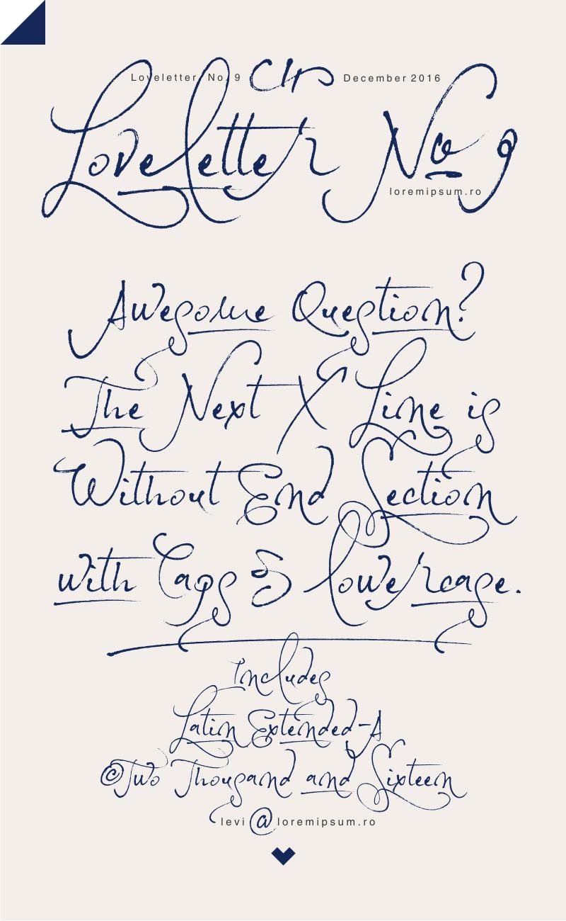 Loveletter No 9 Font