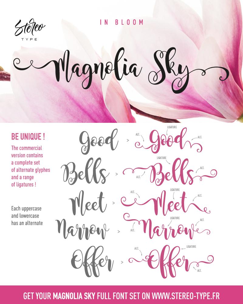 Magnolia Sky Font  DafontCom