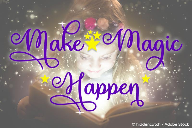 Make Magic Happen Font Dafont Com