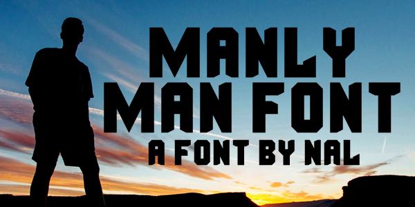 Manly Man Font Dafont Com