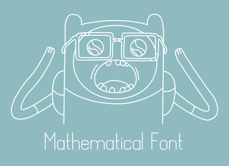 Mathematical Font | dafont com