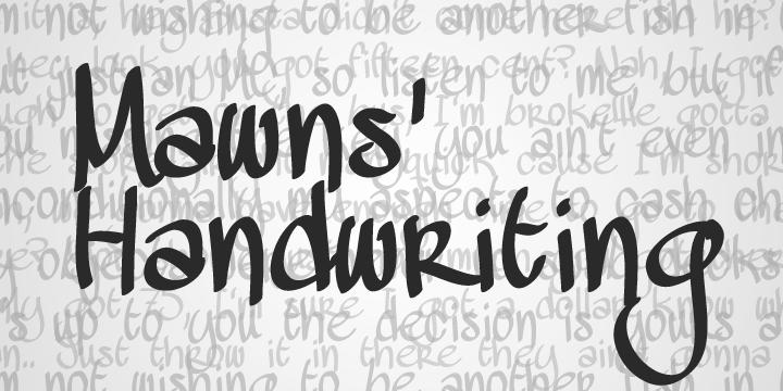 Mawns Handwriting Font Dafont Com