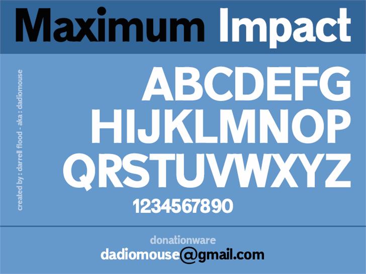 impact фото шрифт