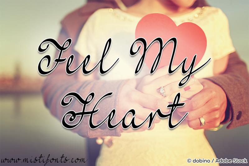 Mf Feel My Heart Font Dafontcom