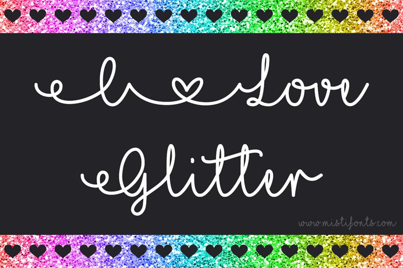 Mf I Love Glitter Font | dafont com
