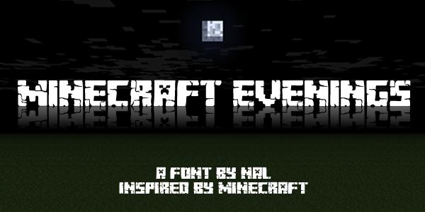 Minecraft Evenings Font | dafont.com