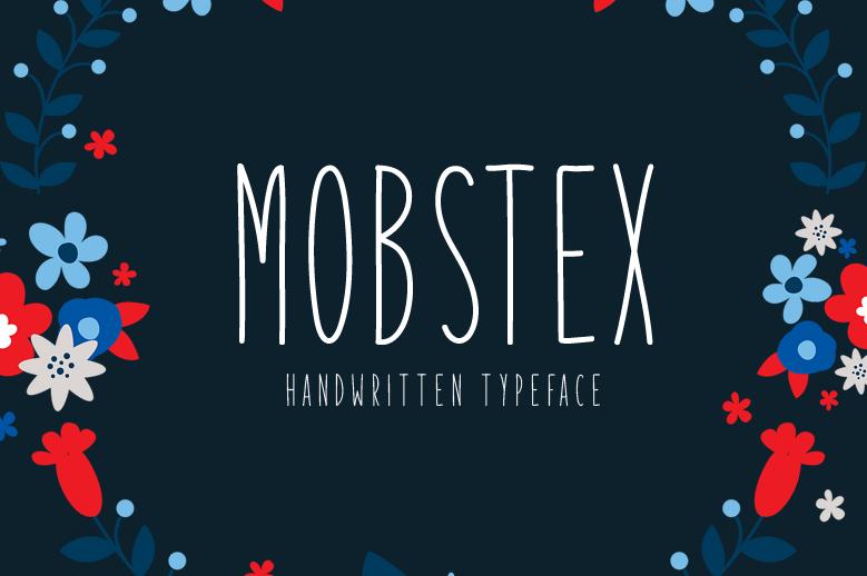 free fonts, Mobstex