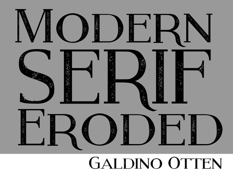 Modern Serif Eroded Font
