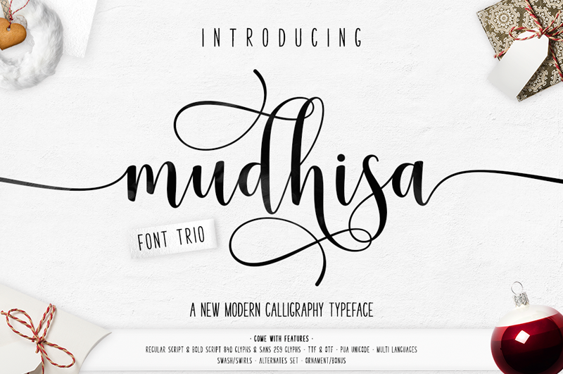 Mudhisa Script Font