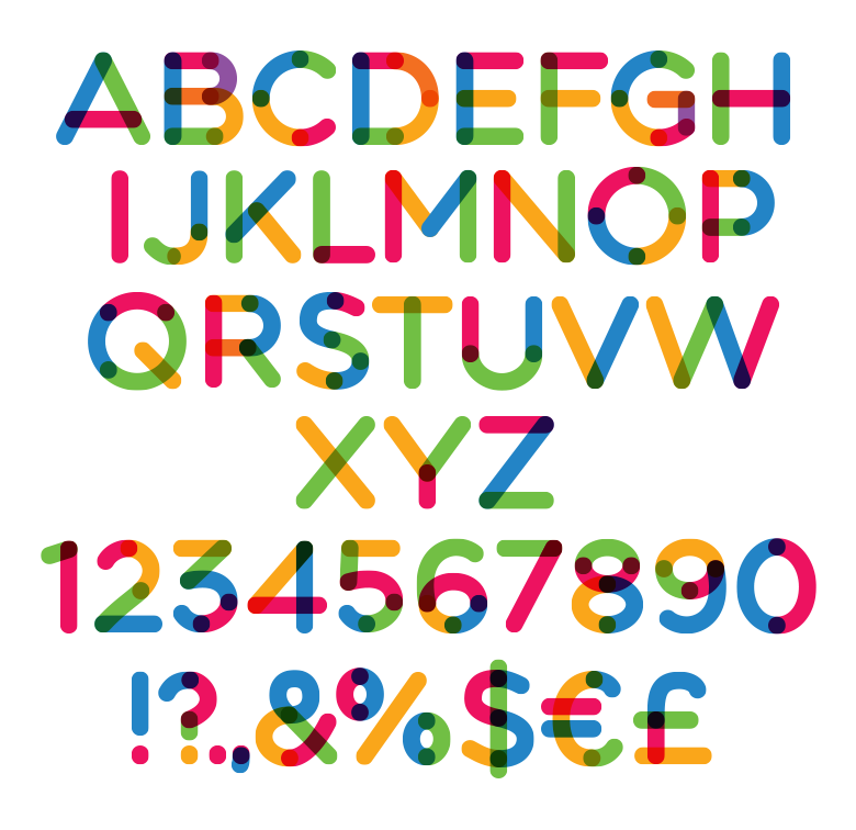 multicolore custom preview fonts