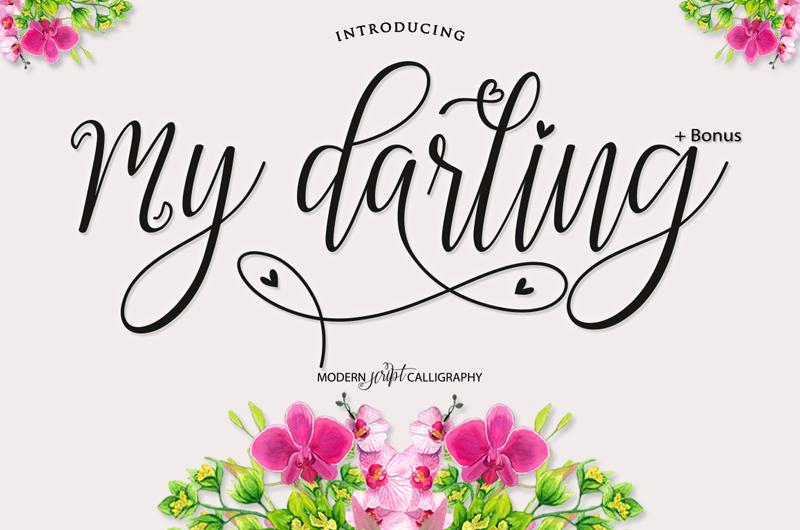 my darling script font