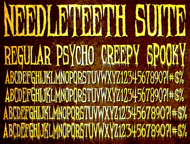 Needleteeth Font | dafont com
