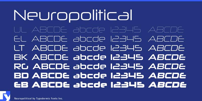 Neuropolitical Font | dafont com