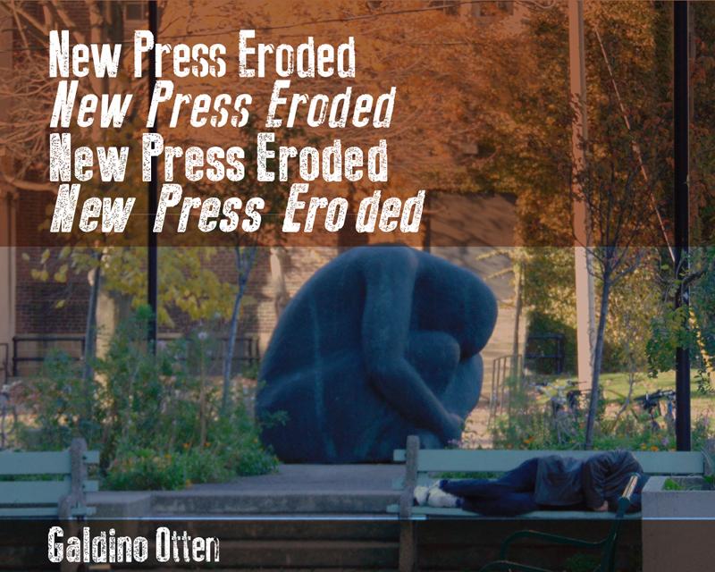 New Press Eroded Font | dafont com