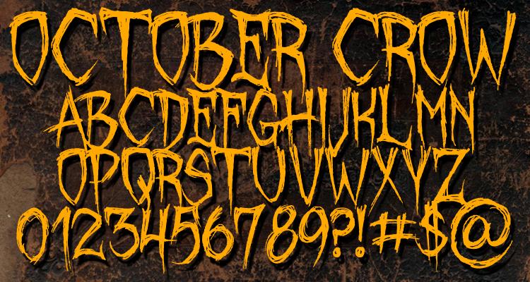 October Crow Font | dafont.com