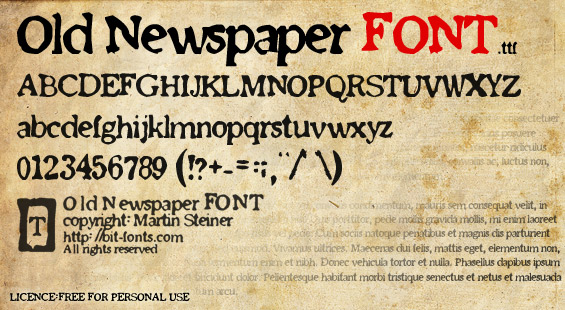 newspaper fonts