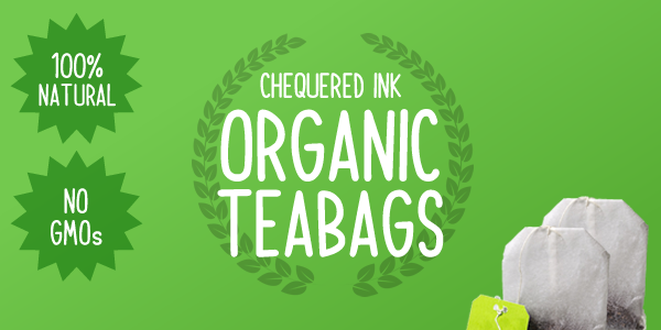 Ilration Chequered Ink Organic Teabags