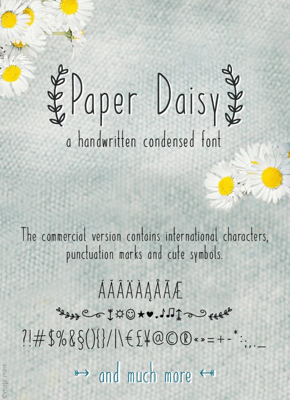 paper daisy font