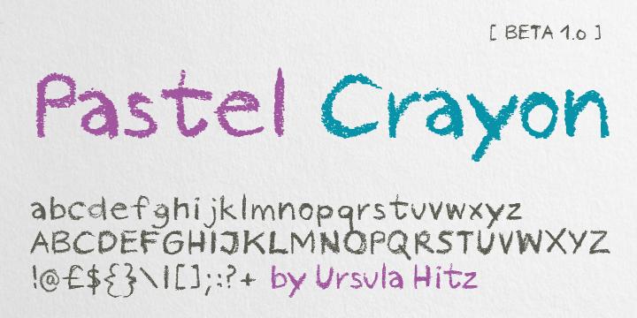 Pastel Crayon Font   dafont com