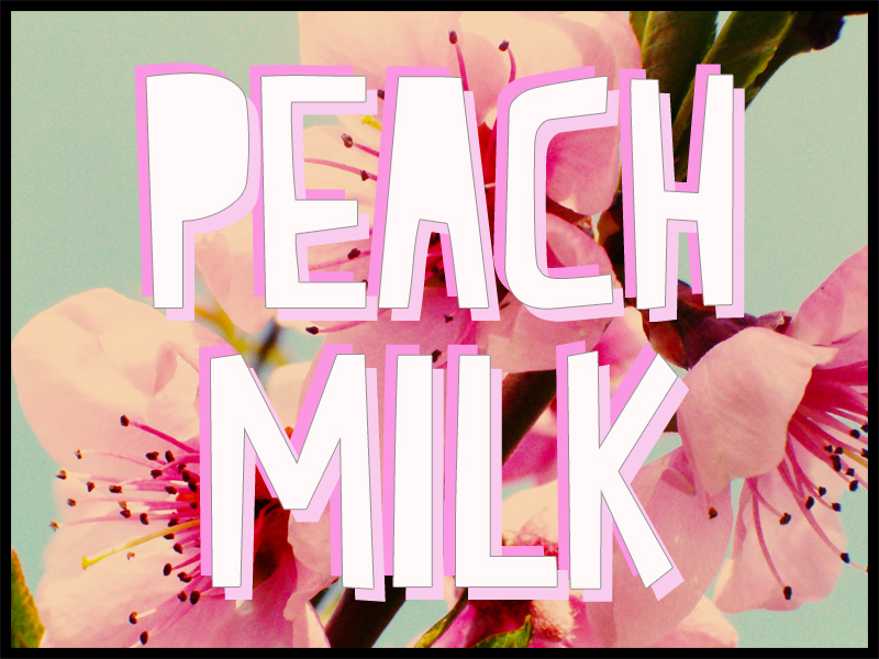 Peach Milk font Peach_milk