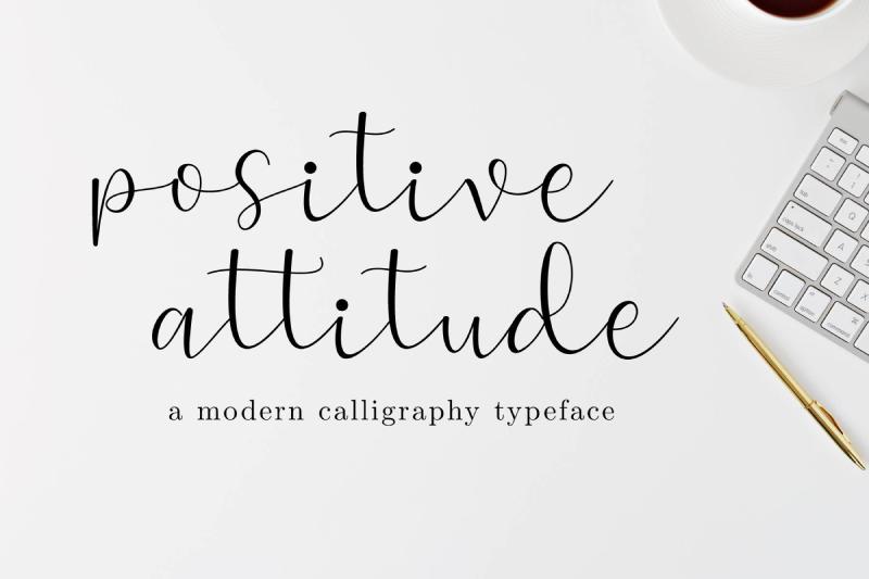 Positive Attitude Font Dafont Com