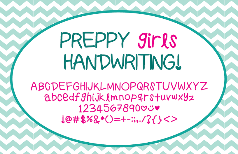 Preppy Girls Handwriting Font