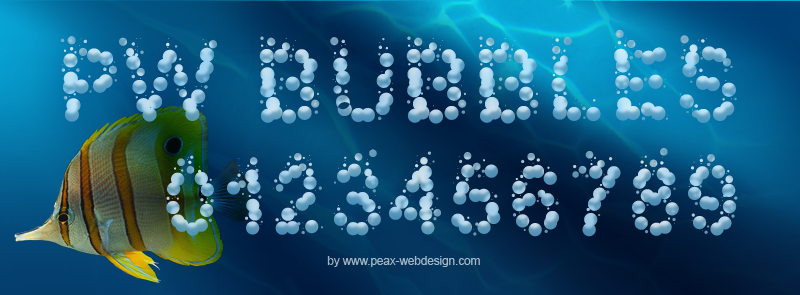 PW Bubbles Font
