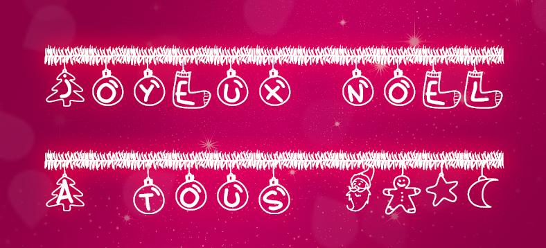 Christmas Tinsel Font