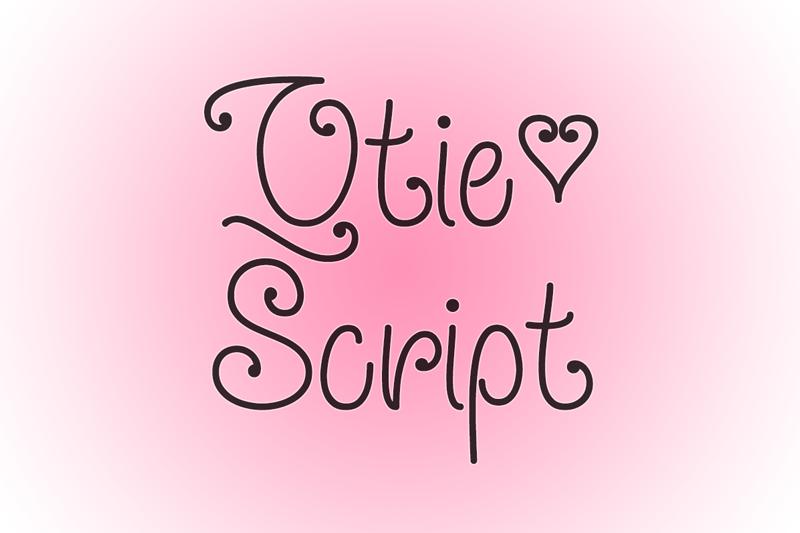 Qtie Script Font