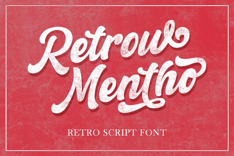 Police Retrow Mentho font PS gratuit  Retrow_mentho