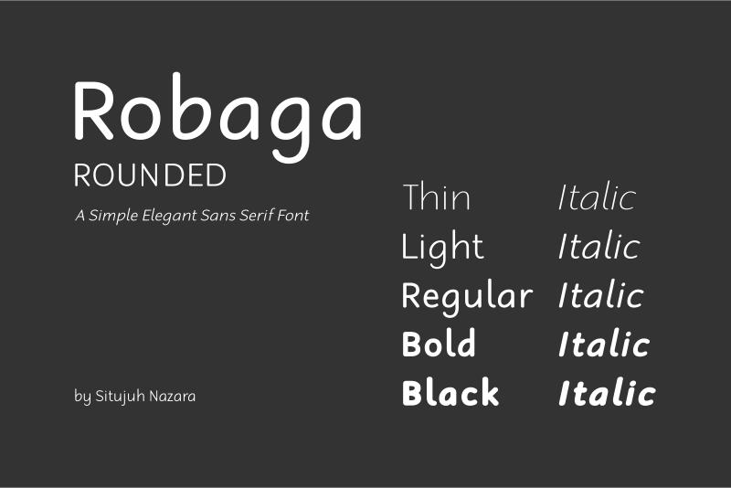 Robaga Rounded Font | dafont com
