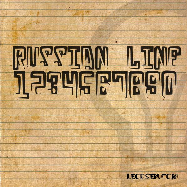 Russian Line Font | dafont com