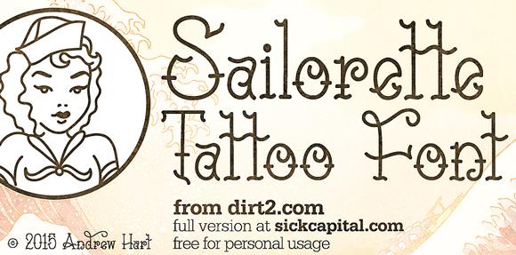 Sailorette tattoo font dafont publicscrutiny Choice Image