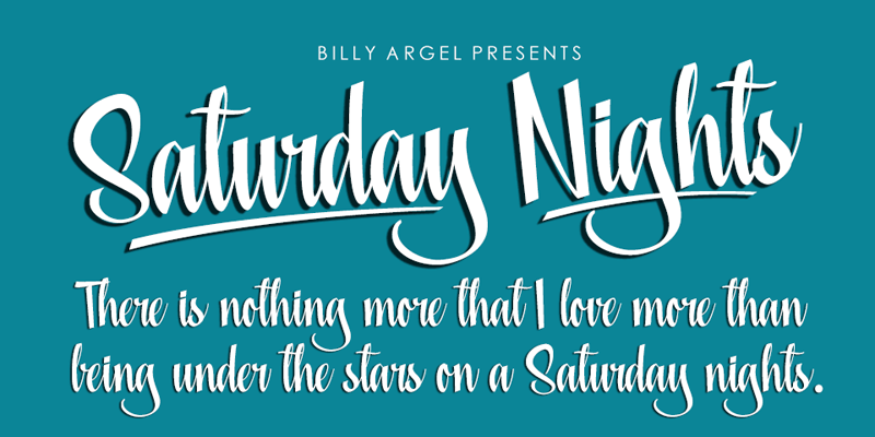 saturday nights font